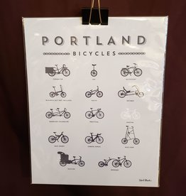 "Print Portland Bicycles 11 x 14"""