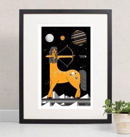 Amar & Riley Cosmic Centaur Print, Lydia Daum Amar Riley 9 x 12