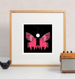 Amar & Riley Pink Pegasus Print, Lydia Daum Amar Riley 10 x 10