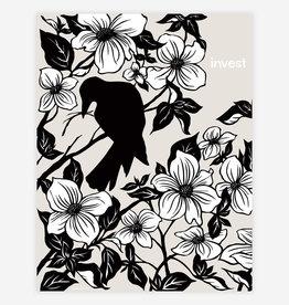 """Invest"" Crow and Magnolias Poster Print - Nikki McClure"