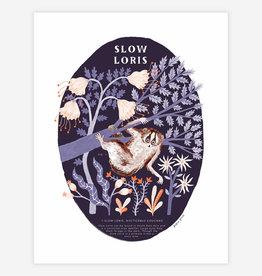 Slow Loris Print - Papio Press 13 x 19