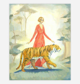 Tiger Lady in Red Print - The Black Apple Emily Winfield Martin 8 x 10