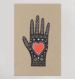 Heart Hand Print  Hammerpress, 11x17