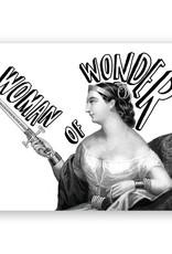 Mincing Mockingbird Woman of Wonder Greeting Card - The Mincing Mockingbird