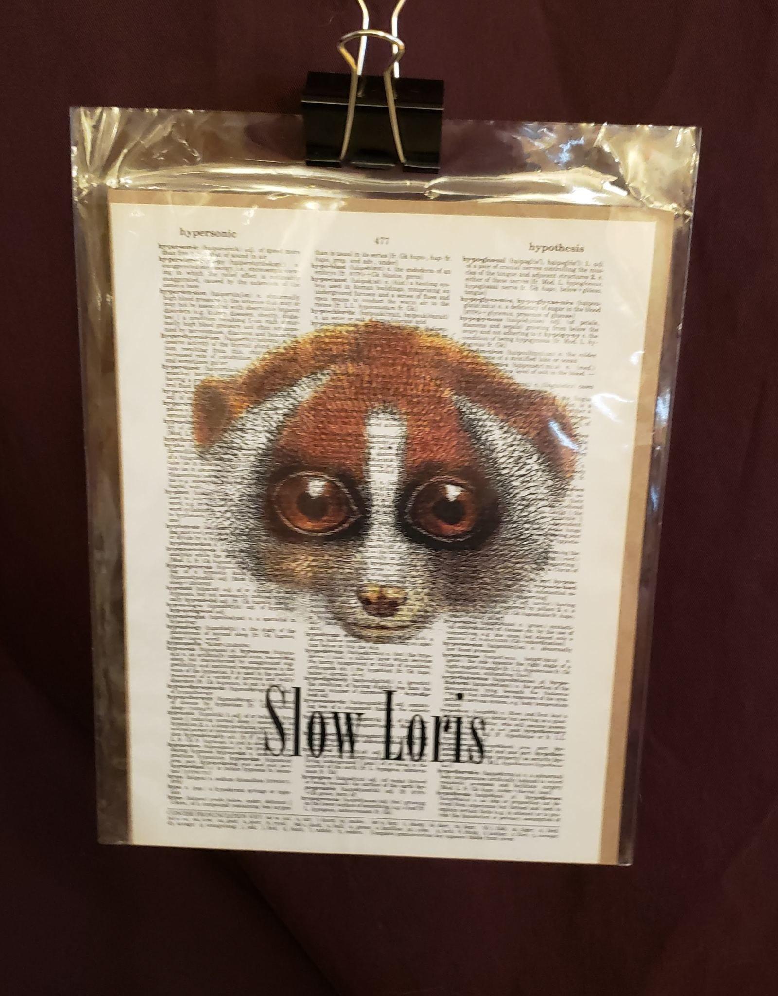 Slow Loris Love, Dictionary Page Print