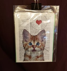 Tabby Cat Love, Dictionary Page Print