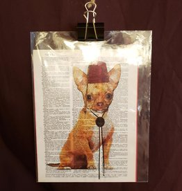 Chihuahua Fez Love, Dictionary Page Print