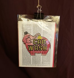 Pink Elephant Car Wash Seattle, Dictionary Page Print