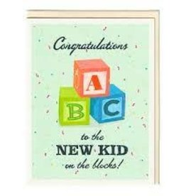 """Seltzer """"New Kid on the Block"""" Baby Greeting Card - Seltzer"""