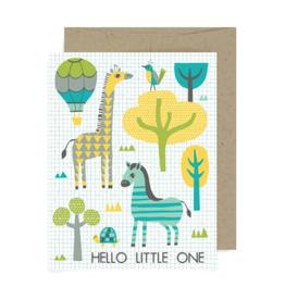 "Allison Cole ""Hello Little One"" Greeting Card - Allison Cole"