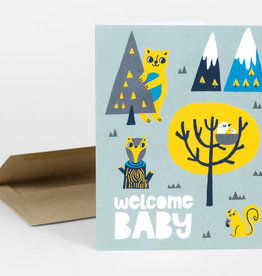 """Allison Cole """"Welcome Baby"""" Greeting Card - Allison Cole"""
