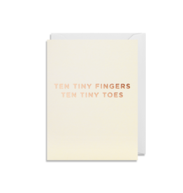 """""""Ten Tiny Fingers"""" - Greeting Card by Lagom Design"""