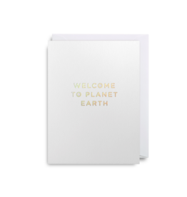 """""""Welcome To Planet Earth"""" - Greeting Card by Lagom Design"""