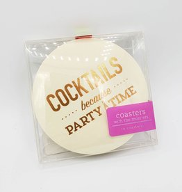 Cocktails Because Party Time, Coaster Set of 10 - Farewell Paperie