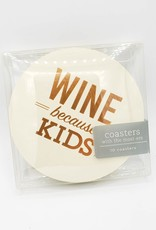 Wine Because Kids, Coaster Set of 10 - Farewell Paperie