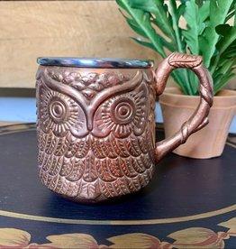 Owl Moscow Mule Embossed Copper Mug, 16 oz.
