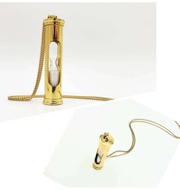 Larissa Loden Sand Timer Necklace, gold plated chain