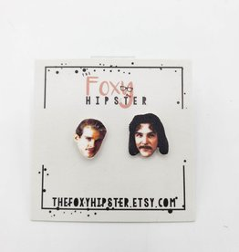The Foxy Hipster The Princess Bride, Inigo & Wesley - Shrinky-Dink Post Earring