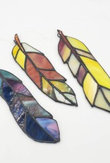 Redux Stained Glass Feather- Yellows/Browns