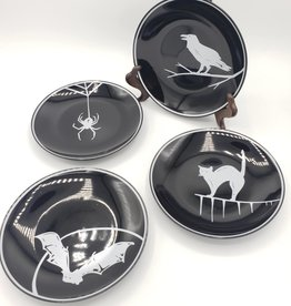 Spooky Appetizer Dish, Round Set of 4