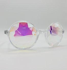 Faceted Kaleidoscope Novelty Glasses, Iridescent-