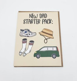 New Dad Starter Pack Greeting Card