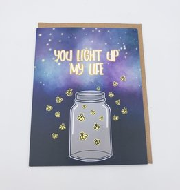 """Saucy Avocado """"You Light Up my Life"""" Firefly Greeting Card"""