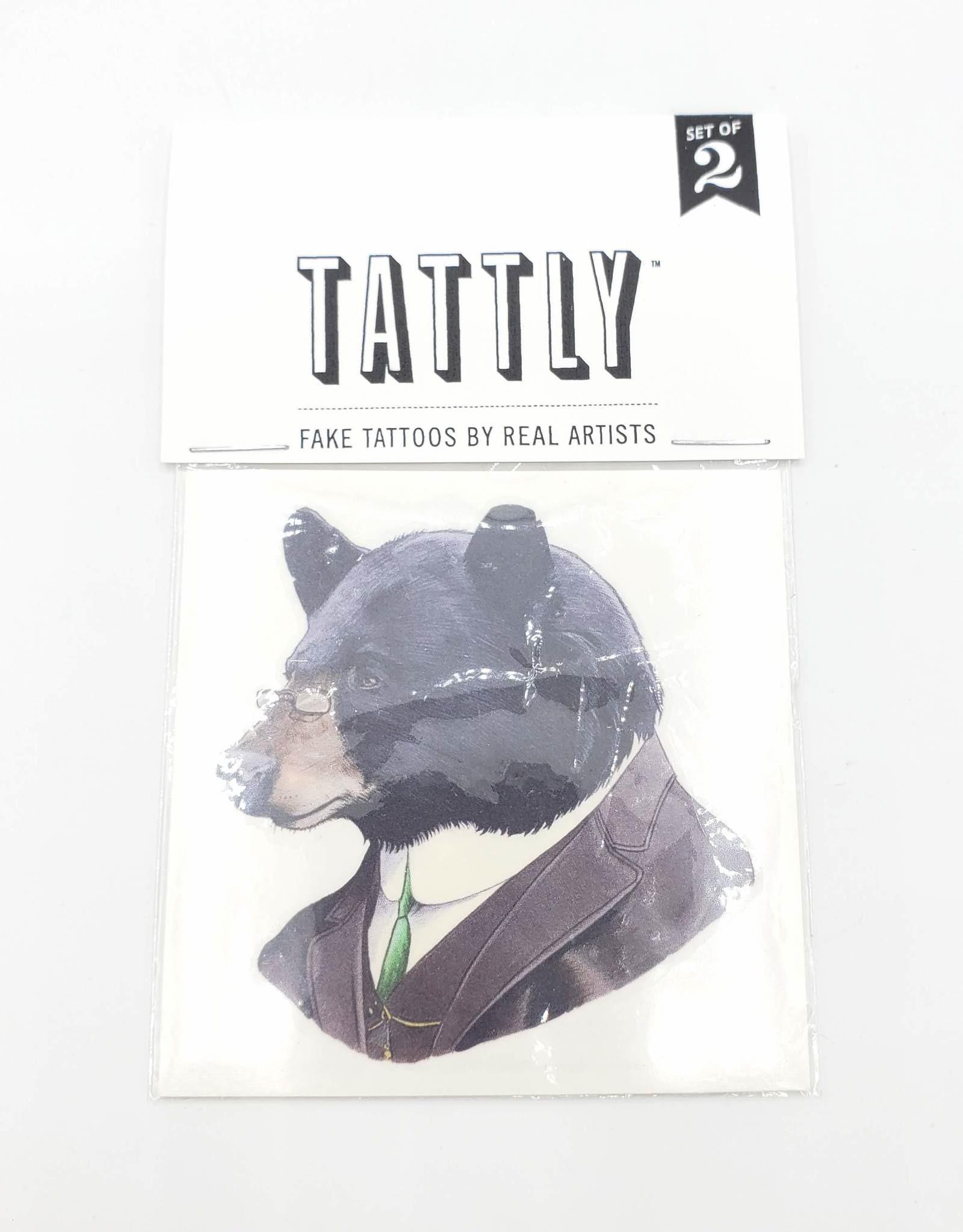 Tattly Black Bear by Ryan Berkley  - Tattly Temporary Tattoos (Pairs)
