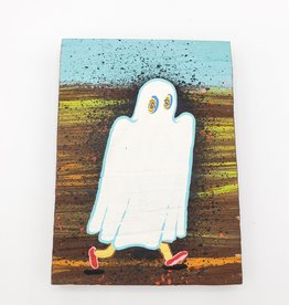 """Running Ghost Painting 4"""" x 5.5"""" by Tripper Dungan"""