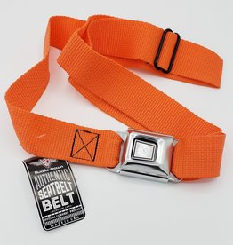 Buckle Down Belts Starburst Seatbelt Belt - Orange Webbing
