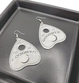 Planchette Laser Cut Earring, Clear Acrylic