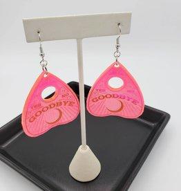 Planchette Laser Cut Earring, Pink Neon Acrylic