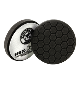 "Hex-Logic BUFX_106HEX4 4"" Hex-Logic Pad -Black Finishing Pad (4""Inch)"