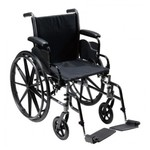 "MOBB Wheelchair - lightweight steel 18"" with footrests"