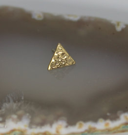 BVLA Yellow Gold Hammered Triangle