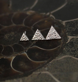 BVLA White Gold Hammered Triangle