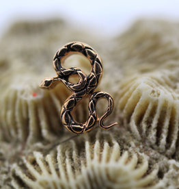 BVLA Rose Gold  Coiled Snake Threaded
