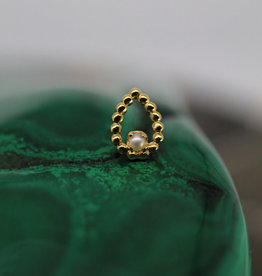 BVLA Yellow Gold Beaded Sophie's Tear with 1.5mm pearl 18/16g Threaded