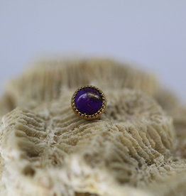 Auris 4mm Grizant with Purple Turquoise Cabochon