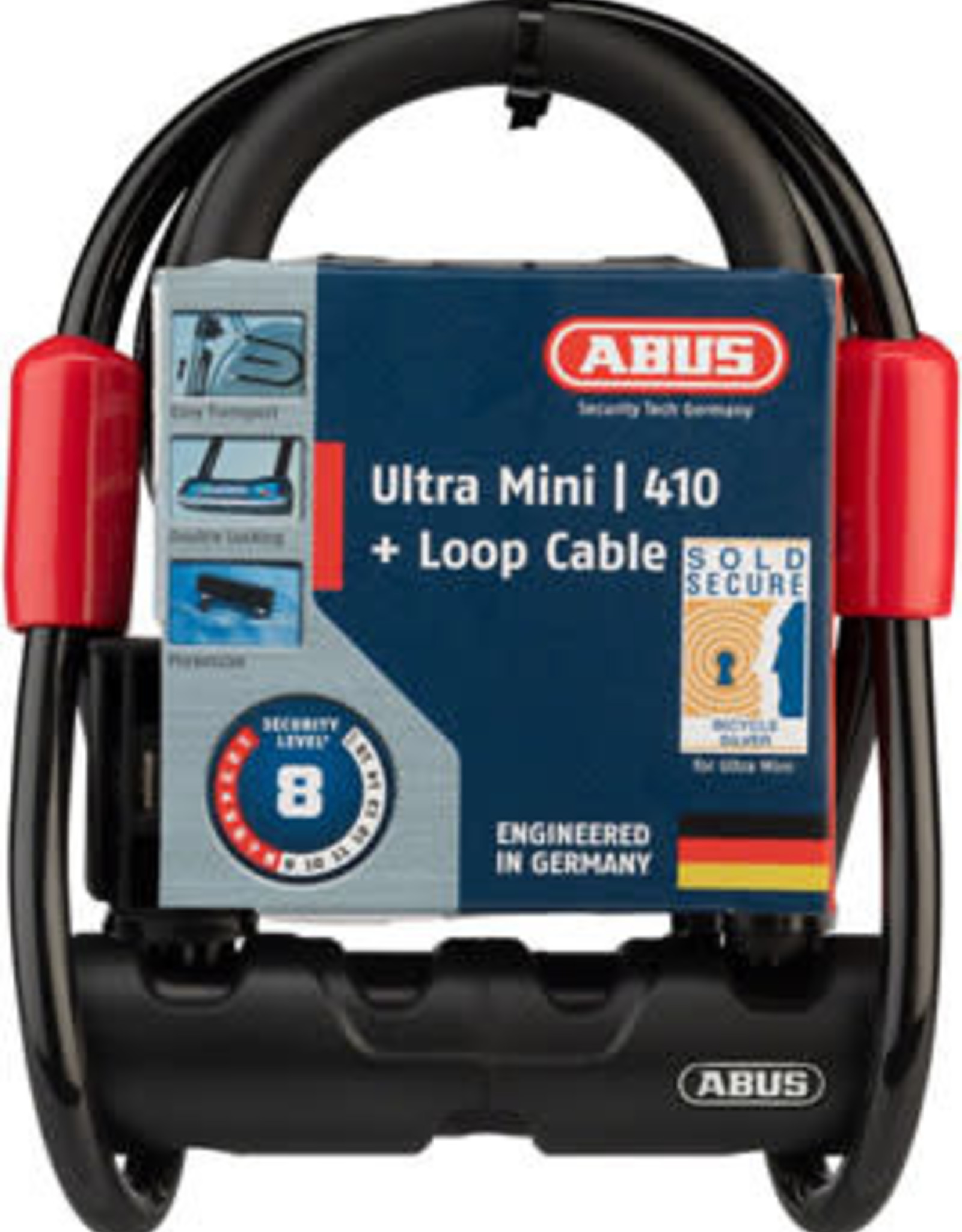ABUS ABUS Lock - Ultra Mini 410 + Loop Cable