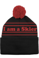 LINE Skis LINE I AM A SKIER Pom Hat Black/Red