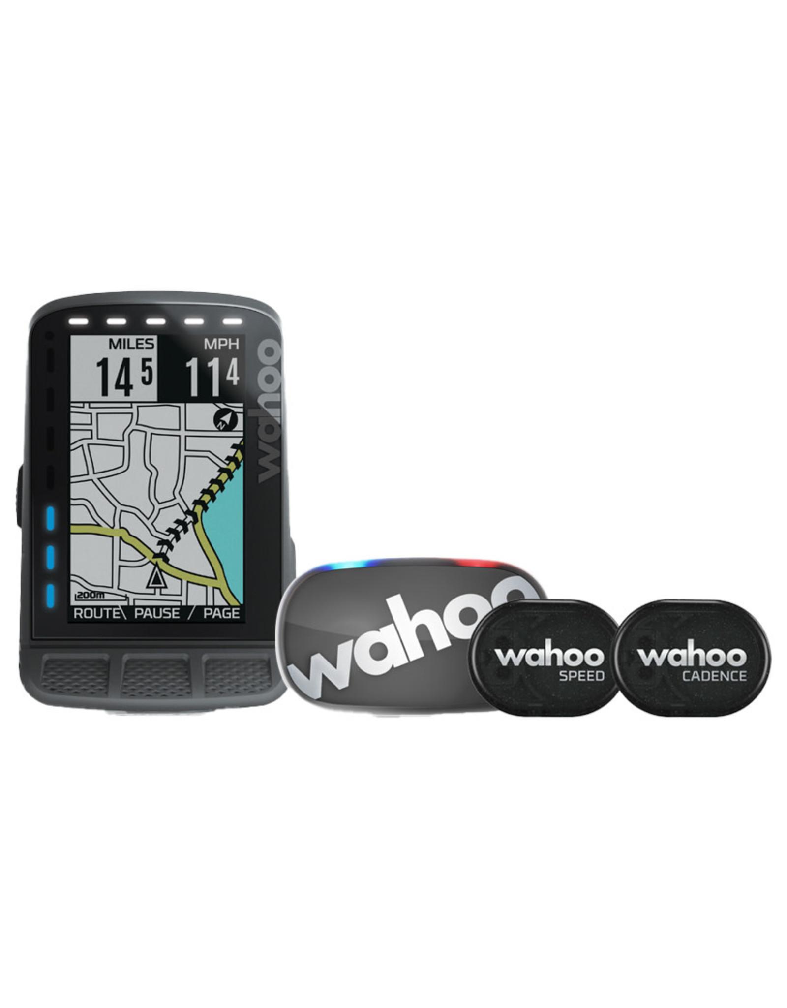Wahoo WAHOO ELEMENT ROAM GPS BIKE COMPUTER BUNDLE W/TICKR STEALTH