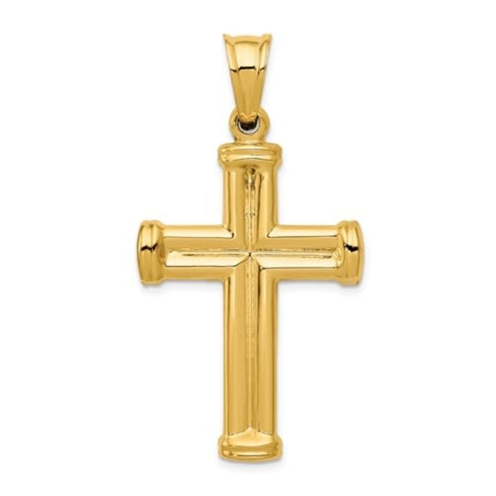 14k Hollow Cross Pendant