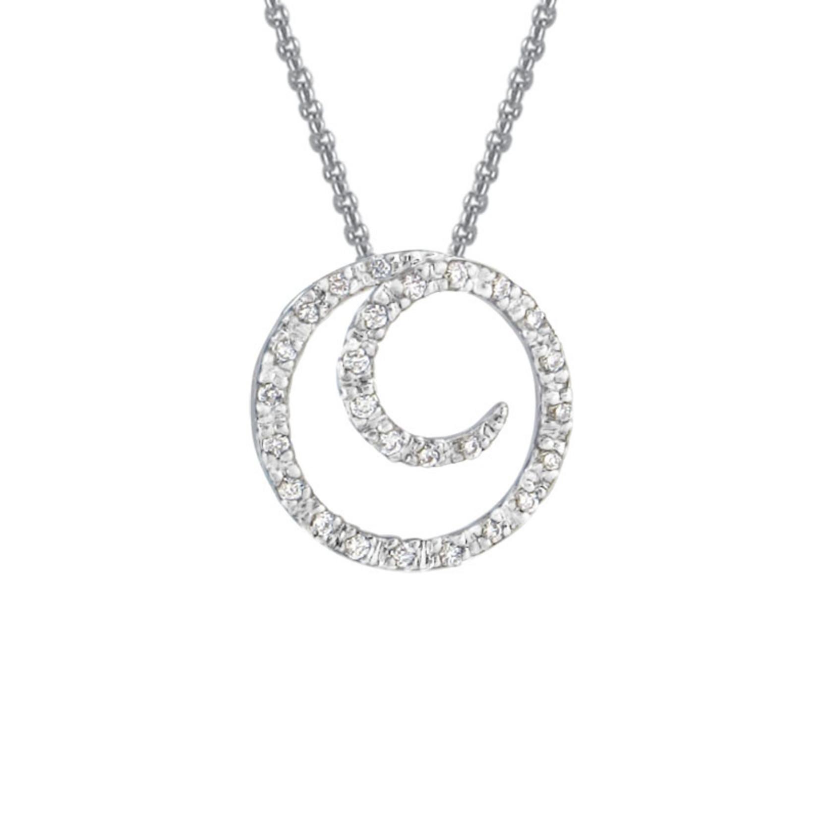 Petite Swirl Diamond Pendant