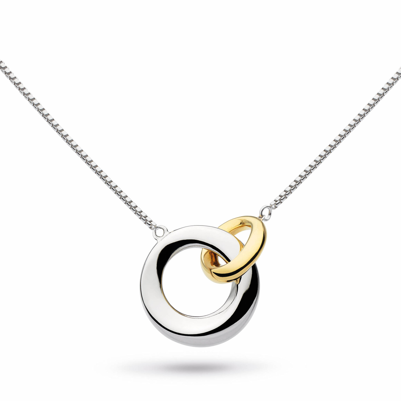 Bevel Cirque Link Gold Plate Necklace