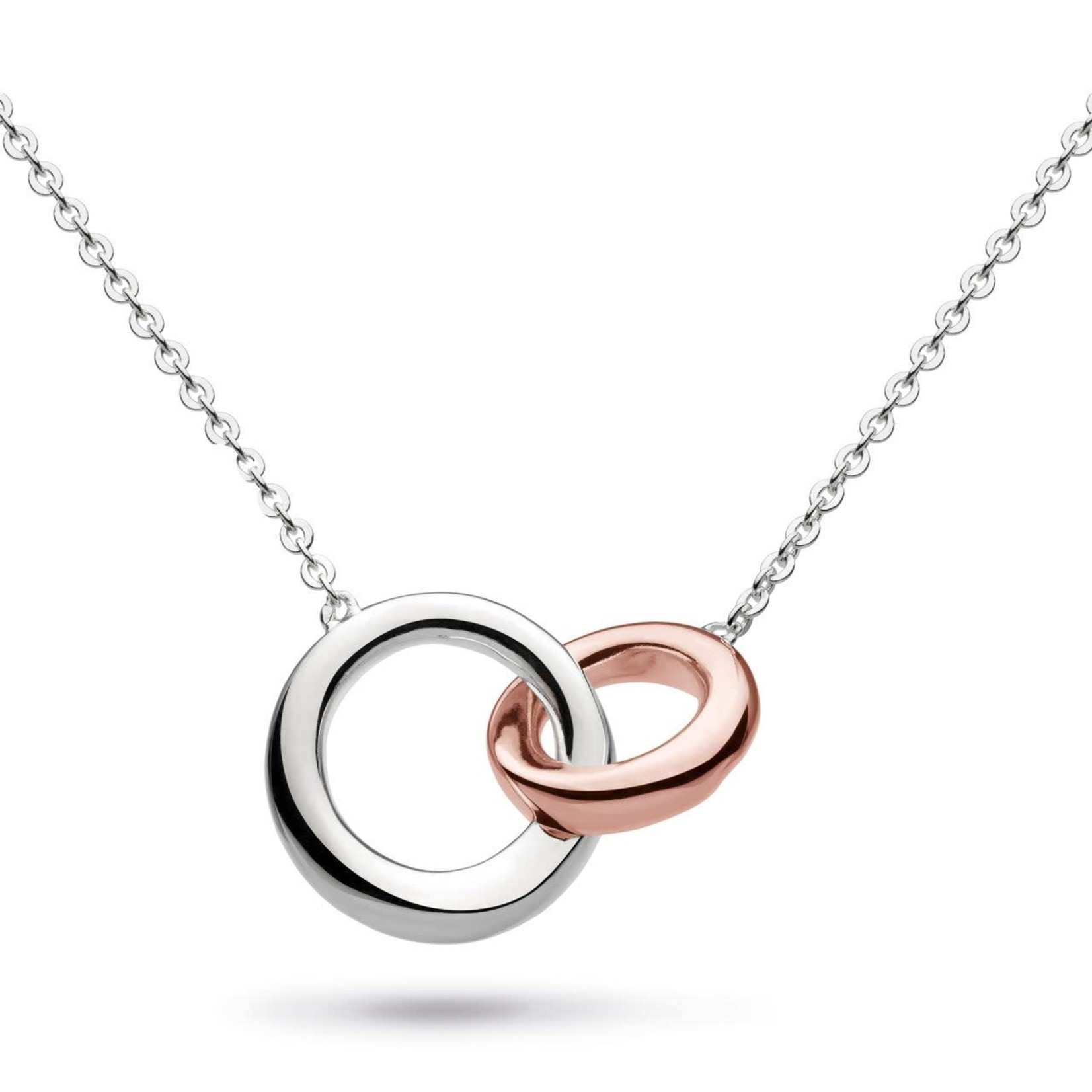 Bevel Cirque Link Rose Plate Necklace