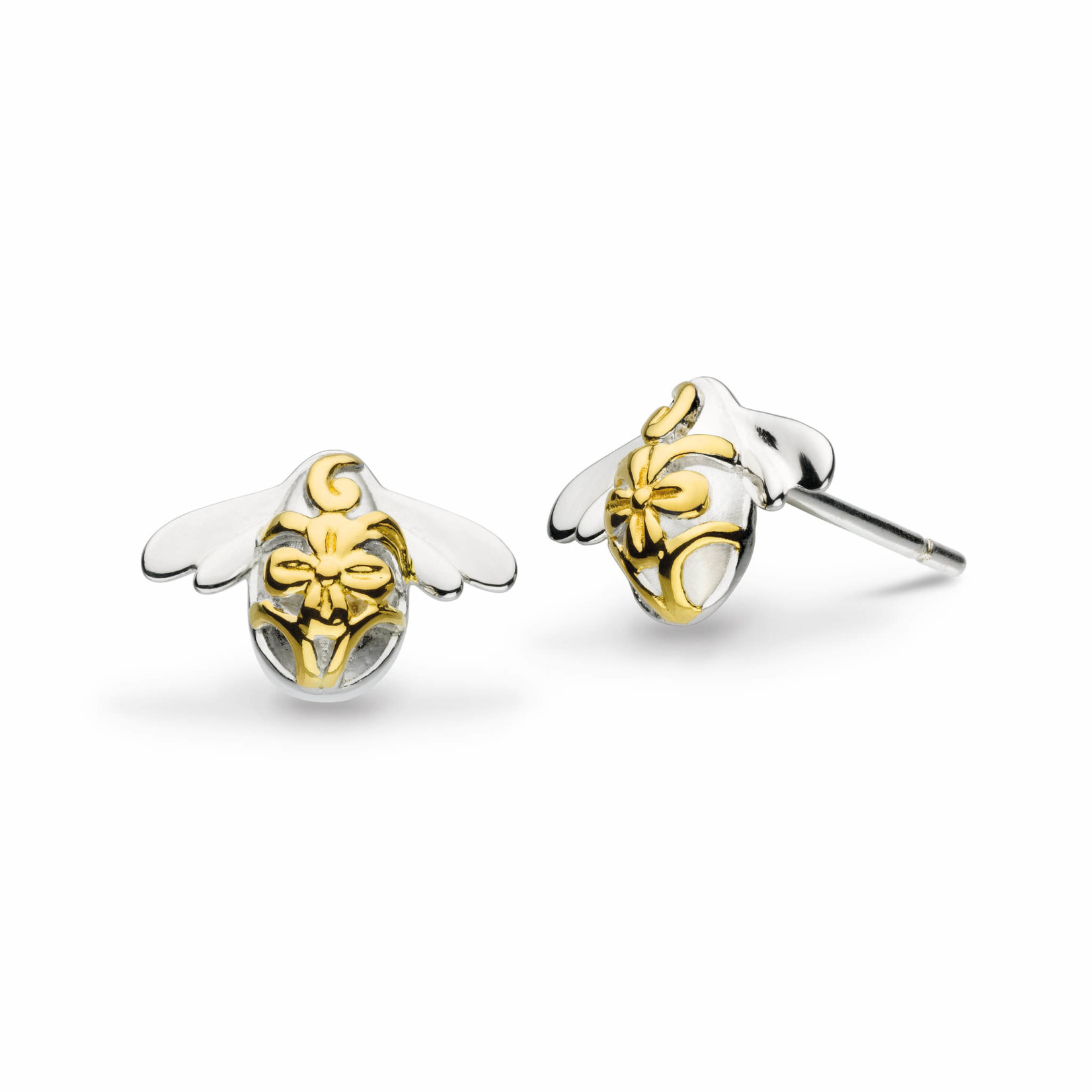 Blossom Bumblebee Gold Plated Stud Earrings