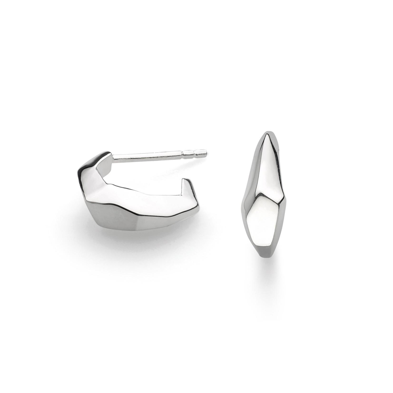 Coast Rokk Hoop Semi-Hoop Stud Earrings