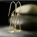 Hartley Studio Diamond Roundel & 18k Triangle Earrings