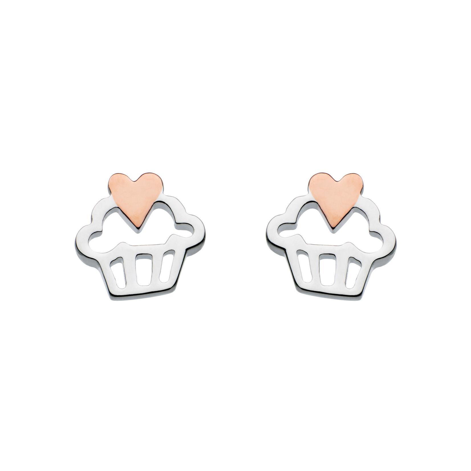 Cupcake Heart Stud Earrings